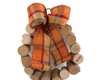 "Cork wreath, synthetic 6"" cork wreath"