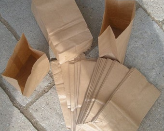 150 Penny Small Brown Paper bags