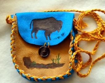 Majestic Buffalo Shaman Medicine Bag, SALE