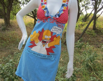 Homer Simpson t shirt bikini dress