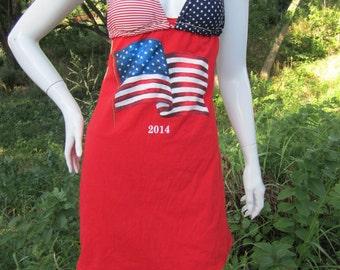 American Flag t shirt bikini dress
