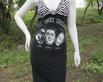 Three Stooges t shirt bikini dress