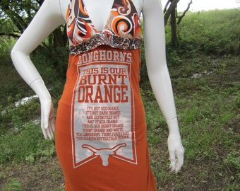 University of Texas UT Longhorns t shirt bikini dress