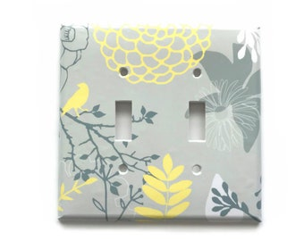 INDIAN IN FEATHER HOME WALL DECOR DOUBLE LIGHT SWITCH PLATE