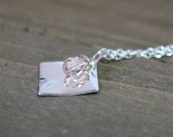 Birthstone Necklace October-Rose