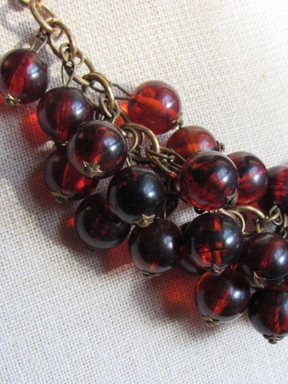 Vintage Bakelite/Catalin Bead Necklace - Root Beer