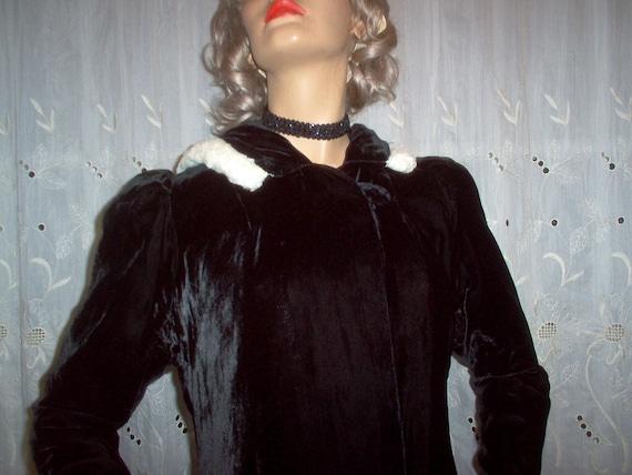 FREE Shipping-Gorgeous Vintage Womens 1930s Black… - image 5