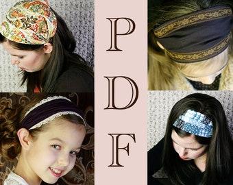 Headband Sewing Pattern, Wide Fabric Headband for Women, Head Band Sewing Pattern, Head Band Pattern, PDF Sewing Pattern, DIY Tutorial
