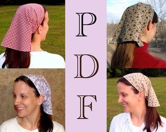 ADULT Veil Headcovering Pattern Veil Pattern Veil Head covering Pattern PDF Tutorial Hair scarf Pattern Bandana Pattern DIY Pattern Bandanna