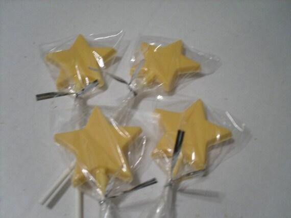A Dozen Star lollipops