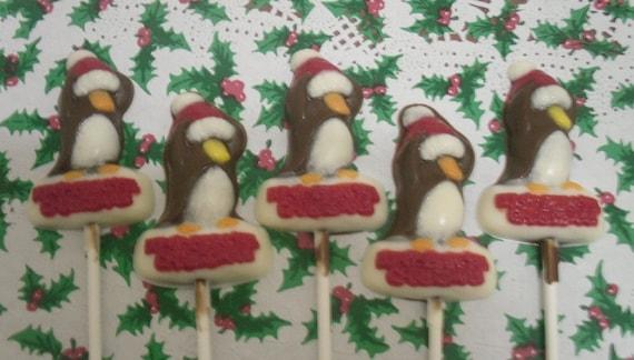 Christmas Penguin Lollipops