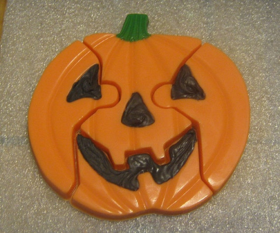 Jack o lantern pumpkin Halloween fall edible chocolate puzzle