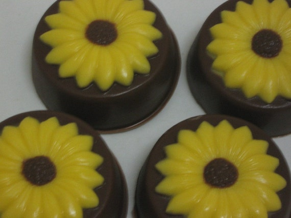 Flower Chocolate covered sandwich cookies