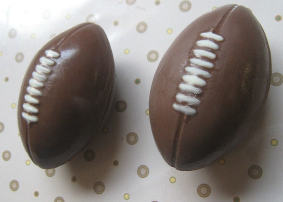 3 piece set 3D solid chocolate football party favors