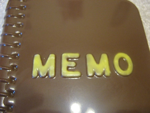 Chocolate memo book