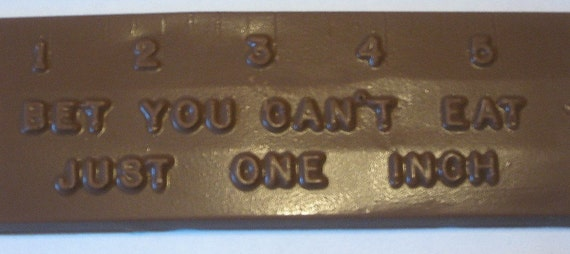 Bet you can't eat just one inch chocolate ruler 6 ct