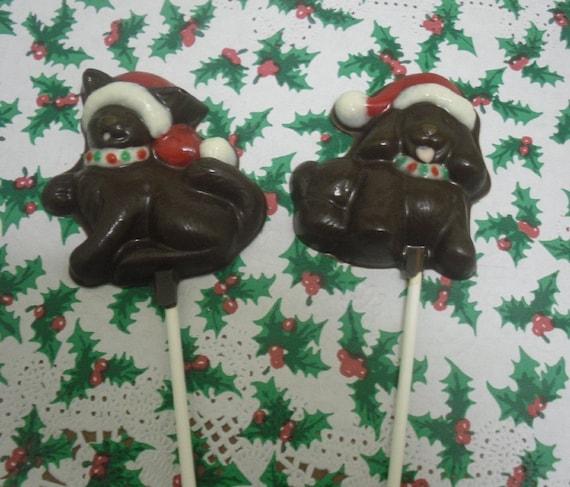 Christmas Kitty or Doggie Lollipops 6 piece