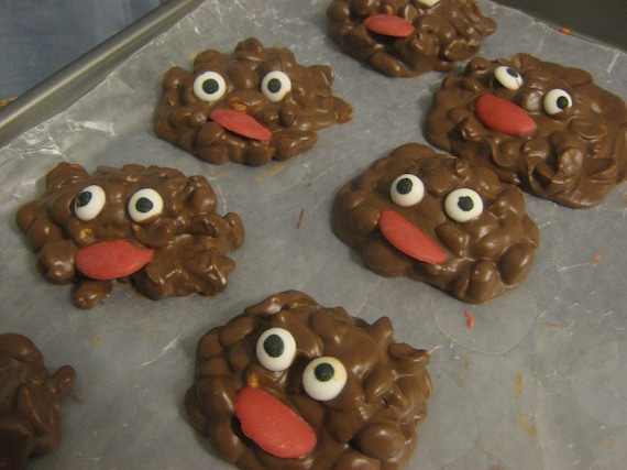 Monster Mounds - peanut and raisin clusters