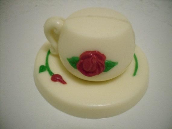 3D Chocolate Teacup and Saucer