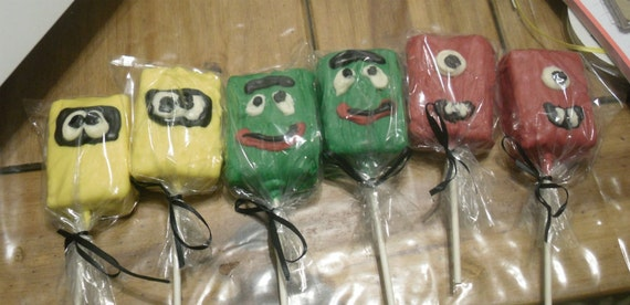 6 piece Yo Gabba Gabba rice krispie treat party favors