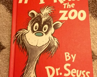 Dr. Seuss If I Ran The ZooVintage Childrens Book 1978