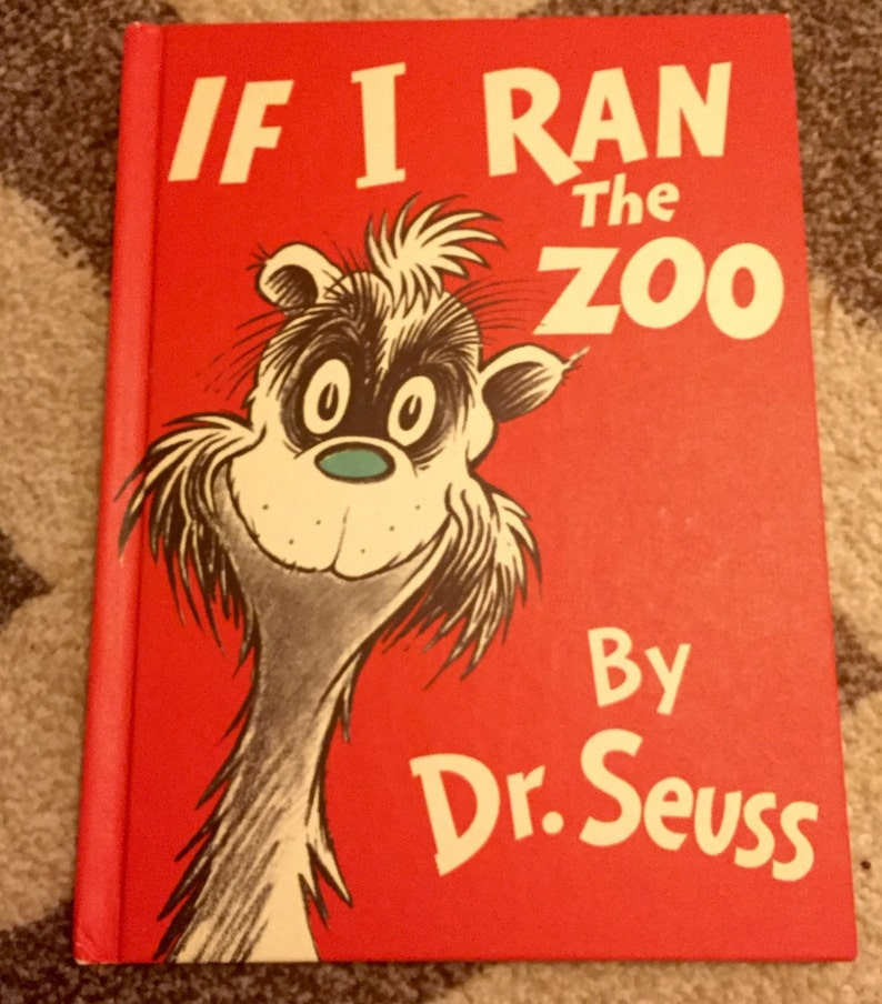 Dr  Seuss If I Ran The ZooVintage Childrens Book 1978