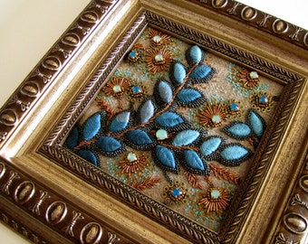 Bead embroidery framed goldwork embroidery in frame needlepoint embroidery freeform embroidery