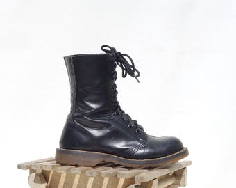 Doc Martens Stiefel schwarz Ankle Boots Größe 5 Frauen in England Docs 10 Loch Doc Martens Original Docs Luftpolster Sohle Größe 3 UK