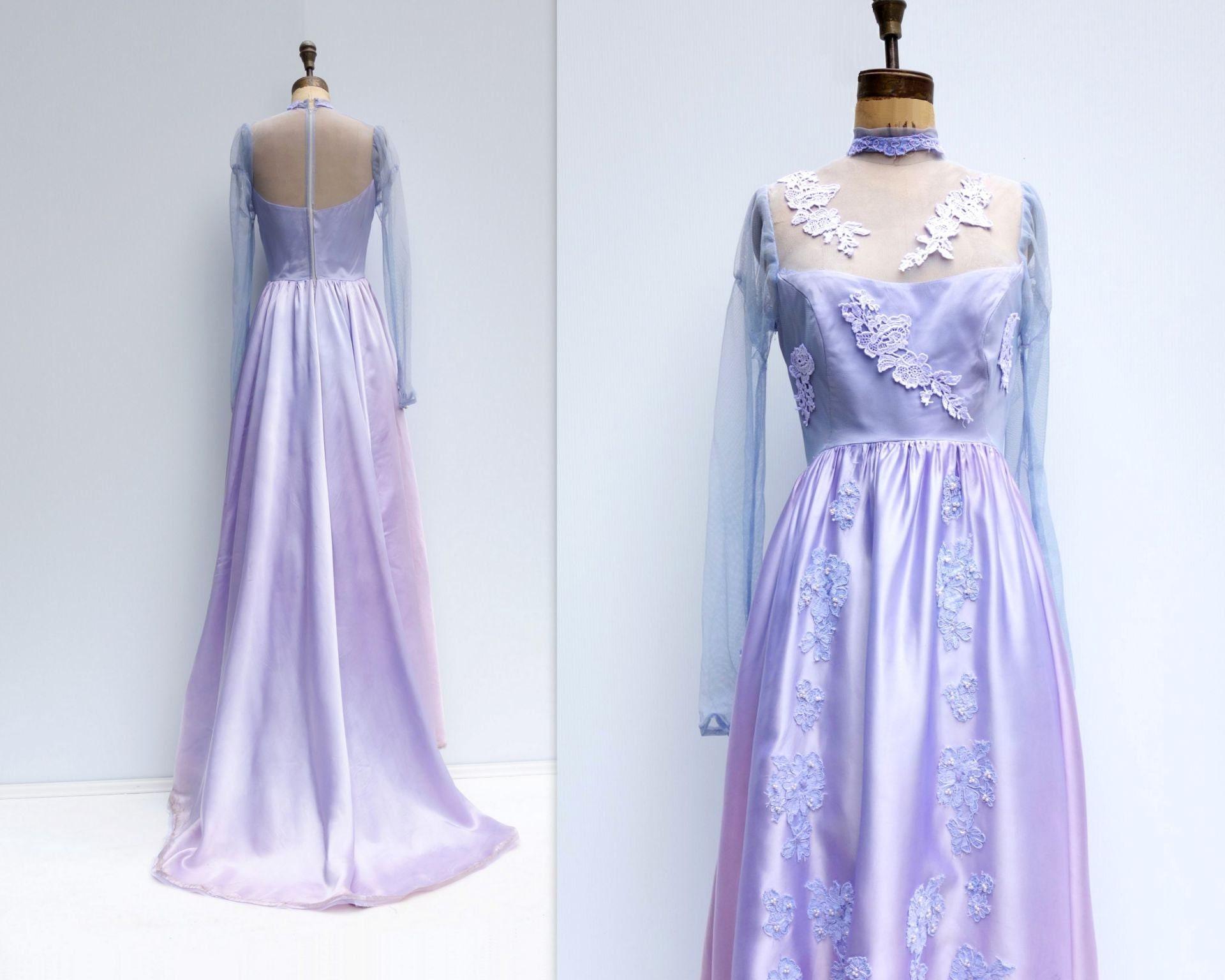 60s Wedding Dress Wedding Gown Train As Is Wedding Dress Mauve Etsy