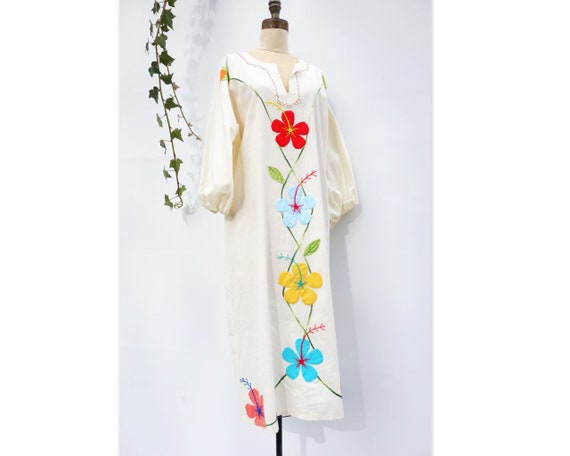 Vintage Caftan Dress 70s Boho Dress Vintage 70s K… - image 3