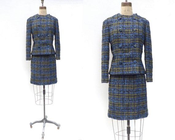 Vintage Skirt Suit 1960s Wool Suit Pencil Skirt Ja