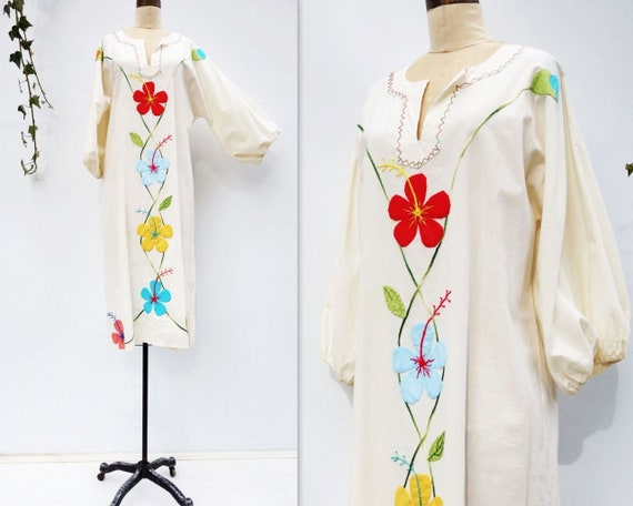 Vintage Caftan Dress 70s Boho Dress Vintage 70s K… - image 4