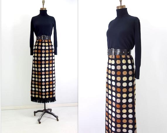 70s Maxi Skirt Vintage Black Skirt Vintage Maxi Sk