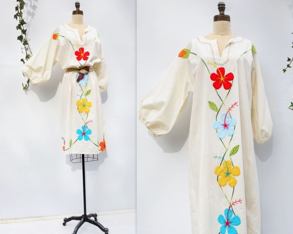 Vintage Caftan Dress 70s Boho Dress Vintage 70s K… - image 5