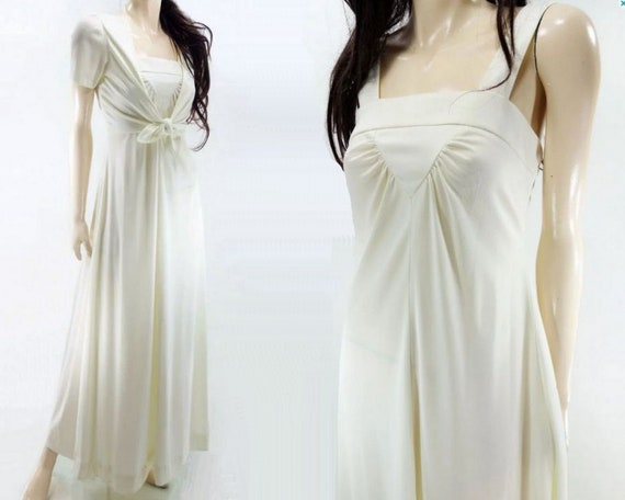 1970s Maxi Dress / 70s Wedding Dress / Dress and J
