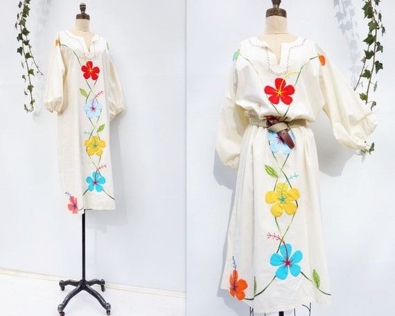 Vintage Caftan Dress 70s Boho Dress Vintage 70s K… - image 2