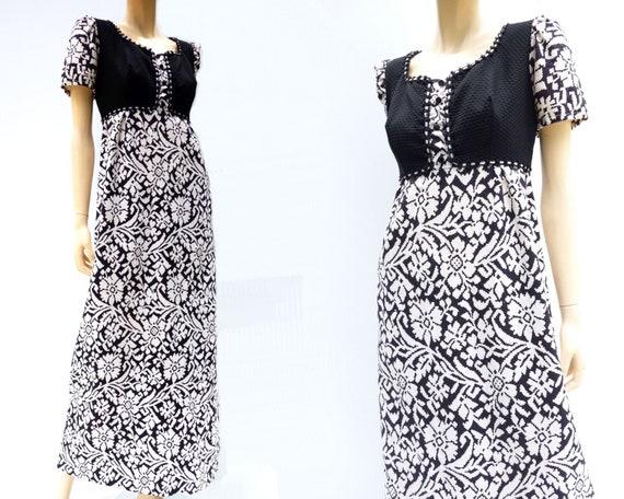 9194a75d9a9 Vintage 60s Maxi Dress Babydoll Maxi Dress Boho Maxi Dress 70s