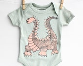 Elliot - Dragon Baby Gift, Organic Cotton Bodysuit, Gender Neutral, Baby Gift, Hip Baby Clothing Present for Baby Shower, Free Shipping