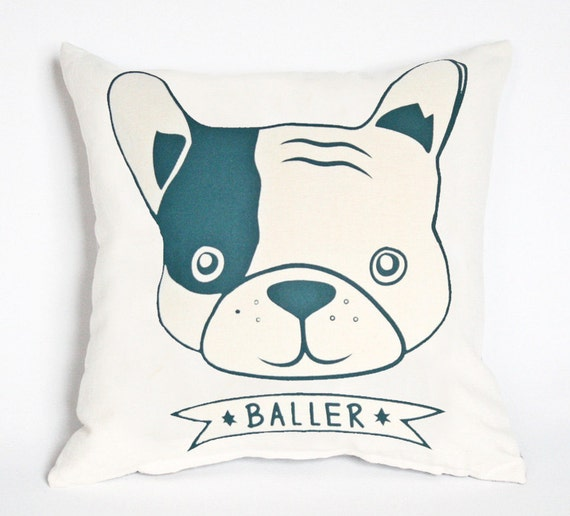 French Bulldog Pillow Cover Modern