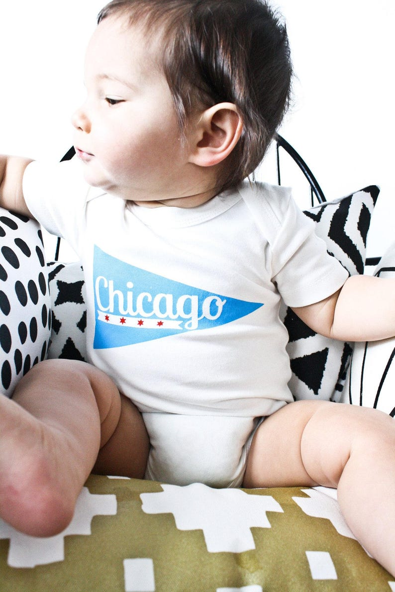 1ce934697e1ff9 Chicago Wimpel Chicago-Baby-Geschenk Geschlecht neutral