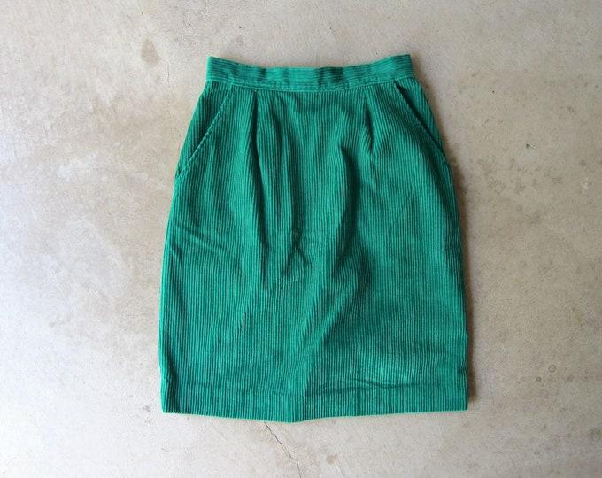 Green Corduroy Mini