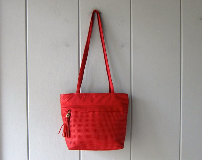 80s Leather Tote