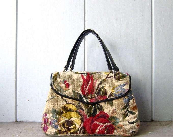 60s Floral Carpet Bag