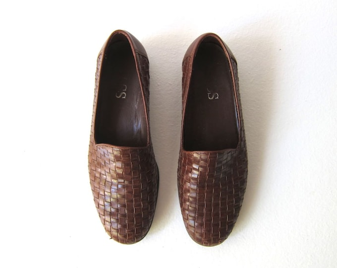 Woven Leather Shoes 6.5