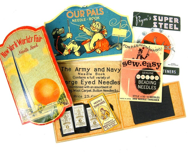 Instant Collection Needle Booklet Sewing Notions Packet Vintage Paper Ephemera Scrapbook Craft Books