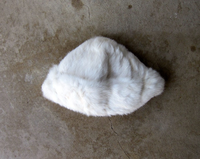Mad Bomber - White Rabbit Fur Hat