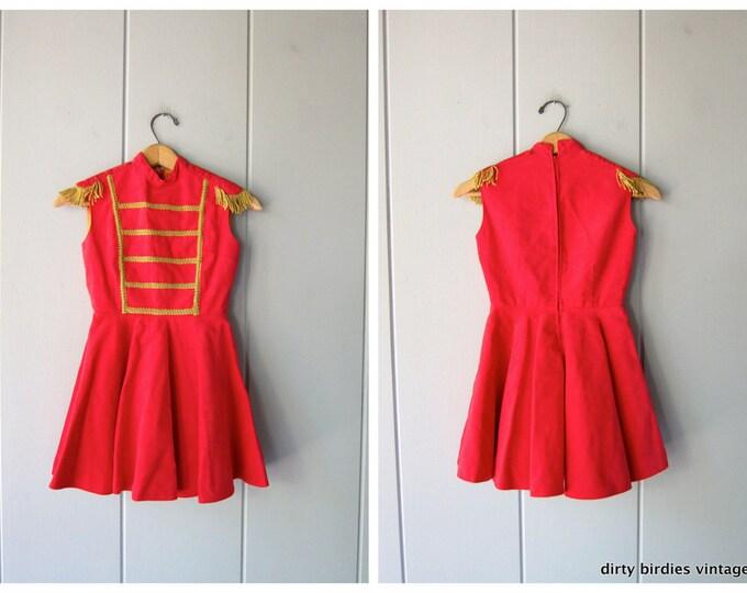 60s Velvet Majorette Dress - Childs dress