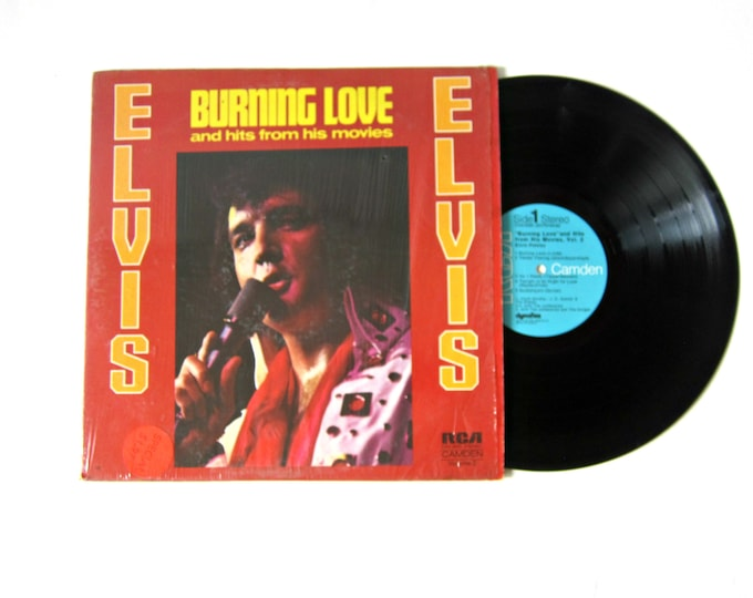 Burning Love ELVIS Vinyl Record Album 12 Inch LP Vintage Music RCA Record Album