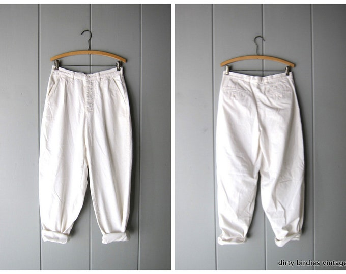 90s JCrew White Pants