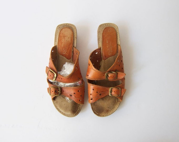 70s Leather Mules